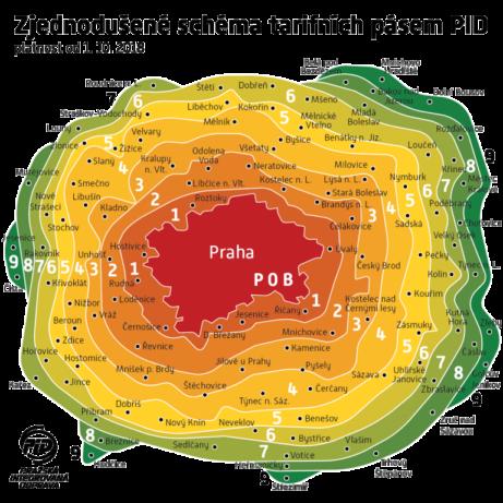 Mapa Pragi.